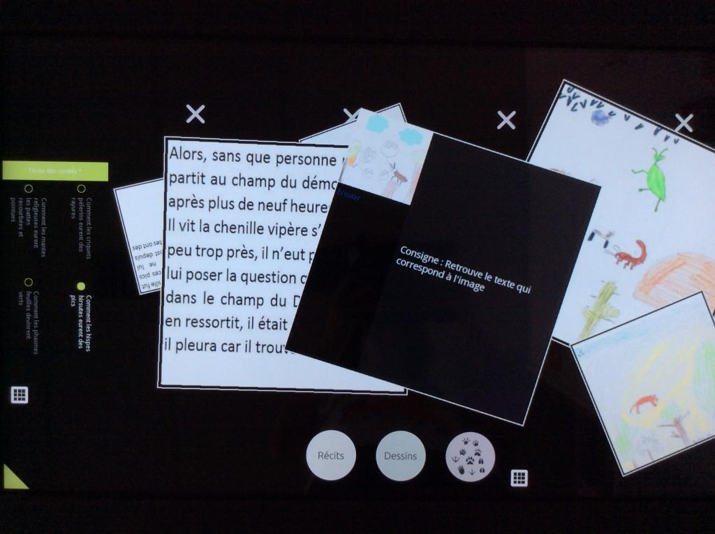 consigne : retrouve le texte qui correspond à l'image